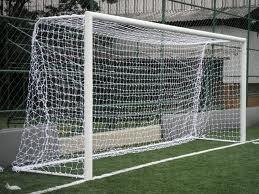 Par Gol De Futebol Society Suiço 5mts Caixote Seda 6mm - R  399 d73524e9b1b8d