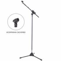 Pedestal Suporte P/ Microfone Estante Girafa Tripé Ibox Sml