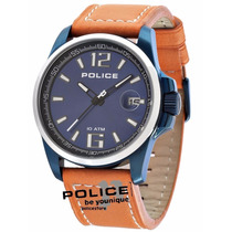 Relógio Police Lancer Azul E Laranja Pl12591jsbus/03