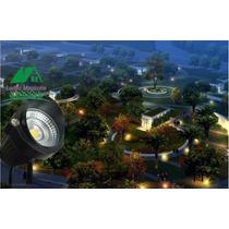 01 Espeto Luminaria Para Jardim De Lâmpada Led 5w-cor Verde