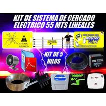 Cerco Electrico Kit 55 Mts Energizador Y Mas Listo Instalar