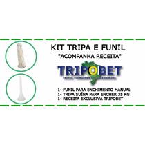 Tripa E Funil Para Encher Linguiça Kit
