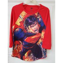 Playera Superman Raglan Hot Topic Original