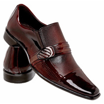 Sapato Social Masculino Verniz Italiano 100%couro Legítimo