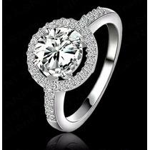 Envio Gratis Anillo Chapa Platino Compromiso Regalo Diamante