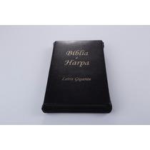 Biblia Evangelica Preta Masculina Ziper Letra Grande Harpa