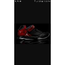 Jordan Bct Mid 3 Negro Con Rojo Talla 31 Cms 11 Mex 13 Usa