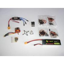 Kit Motor C3530 + 4 Servos Mg90 Metal + Bat 2200 + Esc 30a