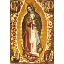 Lienzo Tela Virgen De Guadalupe 1691 Manuel Arellano 72 X 50
