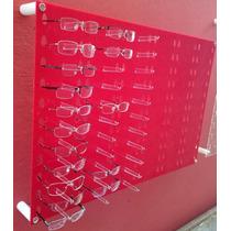 Expositor Oculos Acrílico Vermelho 67 X 100 Cabe 66 Óculos