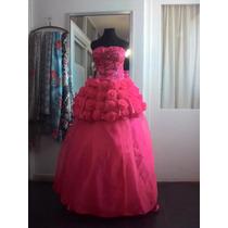 Vestido De 15 Años. De Diseñador. Con Falda Corta Y Larga