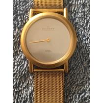 Reloj Skagen Denmark Dorado Caballero Envio Gratis #149