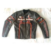 Chamarra Harley Davidson 100% Piel, P/caballero Talla Ch,