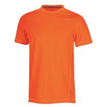 Playera Maratón Dry Tec Hombre Naranja
