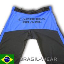 Calça De Capoeira Abada Unisex Preta E Azul Todos Tamanhos