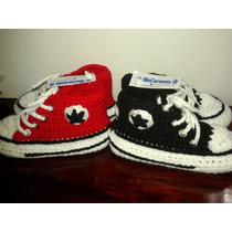 Pantuflas/ Botitas Con Suela Crochet P/ Chicos!!!