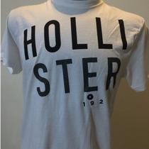 Camiseta Hollister - Feminina -tamanho M - Cor Branco Grafic