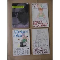 Lote 4 Livros De Carlos Drummond De Andrade