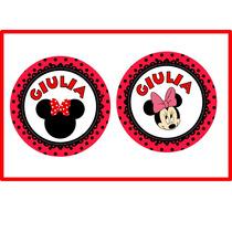 Círculos Imprimibles Minnie Mouse - Para Imprimir