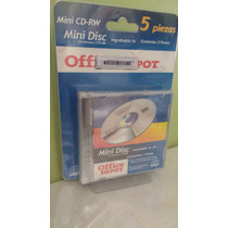 Mini Disc Regrabable 210mb 5pzs Mini Cd Rw 24 Minutos Nuevos