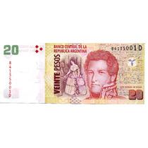 Bottero #3525 $20.- Conv..sin Leyenda Sin Circular Serie D