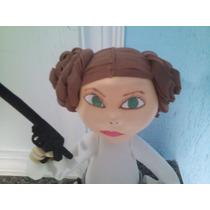 Boneca Em Eva 3d Princesa Léia Stars Wars 40 Cm
