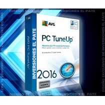 Avg Pc Tuneup 2016 1pc Licencia 100% Original Permanente