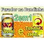 2em1 Furador Cerveja Na Bundinha Aço Inox Lata 350 E Tubinho