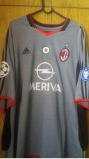 94a6936120 Camisa De Futebol Do A.c. Milan 2003 - 2004 adidas Meriva · Camisa Do Milan  Da Italia Way Game Do Volante Redondo