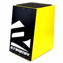 Cajon Acústico Carron Eletrico Enrima Amarelo Black