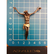 Cristo En Plata Negra Con Detalles En Oro Modelo Grande