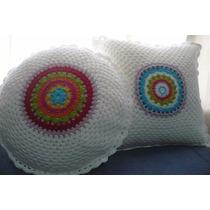 Almohadones Tejidos Al Crochet En Hilo P/bebe, Niñas