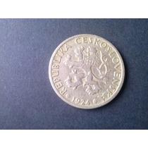 Moneda Checoeslovaquia 1 Corona 1922