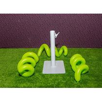 1 Suporte Modelador De Bexiga Balão Canudo De Ferro Branco