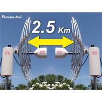 Enlace Punto A Punto De Internet 2.5 Km Combo Antena Wifi
