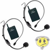 Microfone Headset Sem Fio Duplo Leson Auricular - Kadu Som