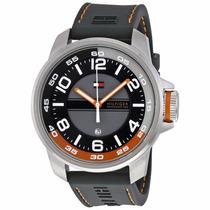 Reloj Tommy Hilfiger, Correa Silicona, Detalles Naranjas New