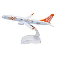 Avião Miniatura - Boeing 737-800 New - Gol - Em Metal