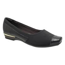 Sapato Feminino Piccadilly Para Joanete Super Leve Preto Tc
