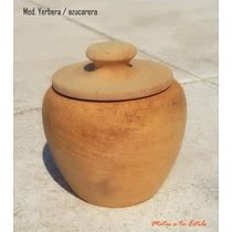 Lote Set Yerbera + Azucarera De Madera Virgen