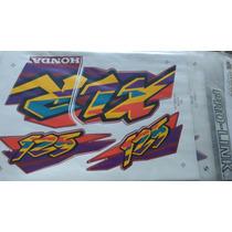 Jogo Faixas Adesivos Xlr125 1998 Vermelha