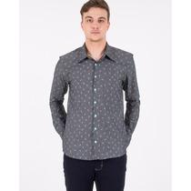 Camisa Social Estampada Diversas Cores E Modelos Com Botão