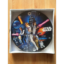 Reloj Pared Star Wars Madera Mdf 35 Cm Diámetro New Hope .