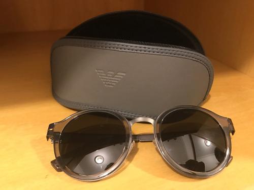 b683e5393a38c Óculos Empório Armani Original Cinza Redondo Masculino - R  250,00 em  Mercado Livre
