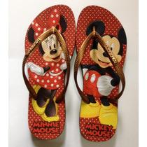 Chinelo Personalizado Havaianas Slim - Mickey Minnie
