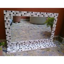Espejo Venecitas 90x60+estante Decoracion Baño