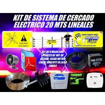 Cerco Electrico Kit 20 Mts Energizador Y Mas Listo Instalar