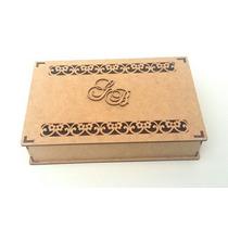 Caixa Convite Casamento Mdf Cru Flores Kit 30un. 5cm Altura