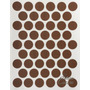 Tapa Tornillo Cacao Adhesivo 14 Mm De Diámetro Mueble