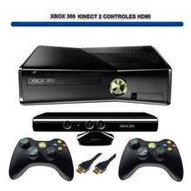 Xbox 360 4gb, 2 Controle, Kinect, Hd500 Gb Lotado Jgs.